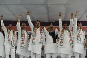 NCP leaders at Raigad, where the party kicked off its preparations for the 2019 polls.