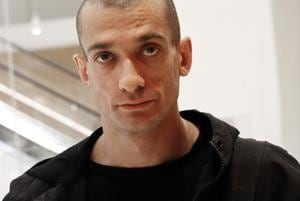 Pyotr Pavlensky, 34, received a one-year jail term and two years suspended for the stunt, but should walk free, having already served 11 months in custody.