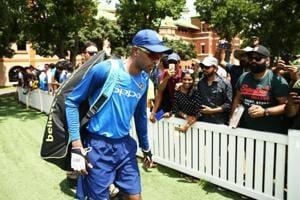 SYDNEY, AUSTRALIA - JANUARY 11: Hardik Pandya walks to the nets during the India ODI Series Training Session at SCG on January 11, 2019 in Sydney, Australia