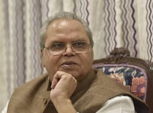 Governor of Jammu and Kashmir Satya Pal Malik during an interview at J&K House, Prithviraj Road, in New Delhi, India, on   October 27.