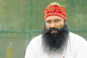 Journalist Ram Chander was shot at point-blank range at his residence in Sirsa on October 24, 2002, months after his newspaper 'Poora Sach' published an anonymous letter alleging how women were raped by Ram Rahim (pictured) in the dera.