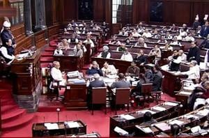A view of the Rajya Sabha session during the Parliament Winter Session, in New Delhi.