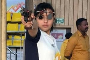Devanshi Rana in action during Khelo India Youth Games.