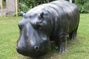 The 6.5-foot goliath statue, weighing at a whopping 1,500 pound was reported stolen on Friday.