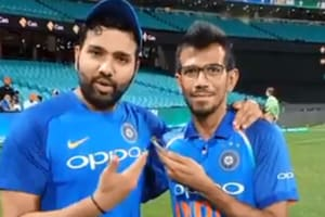 Yuzvendra Chahal interviews Rohit Sharma on his century in Sydney.