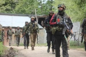 A day after two militants were killed in Kulgam, protesters clashed with security forces Sunday during the funeral of one of the militants in Jammu and Kashmir's Shopian district.