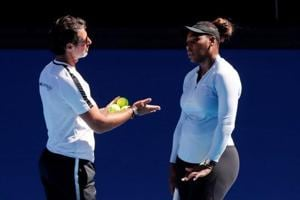 Serena Williams with her coach Patrick Mouratoglou.