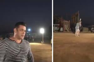Salman Khan plays cricket on the sets of 'Bharat', bats like a pro