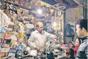 Manmohan Swaran is the owner of a shop called 'Cheap Electricals' on Old Delhi's Ganj Meer Khan Street.