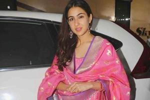 Sara Ali Khan kept her accessories simple because, because let's face it, all eyes were on her show-stopping patiala salwar suit. (Instagram)