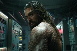 This image released by Warner Bros. Pictures shows Jason Momoa in a scene from Aquaman.