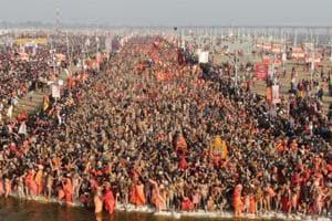 Seers, Naga sadhus proceed in royal splendour for Kumbh's first shahi snan