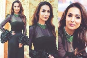Malaika Arora's black gown proves formal doesn't need to equal boring. (Instagram)