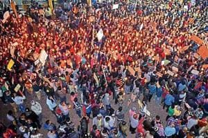 Protesters hold candle light march in Gaya