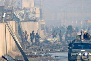 An Indian national was among four people killed in a car bomb blast in Afghanistan's capital on Monday, India's foreign ministry said on Tuesday.