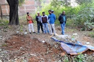 Members of the Anjuman Islamia visit the spot at the Muslim burial ground run by them where a body of a minor girl found and from the same burial ground a boys body also found few days back in Ranchi, India, on Monday, January 14, 2019.