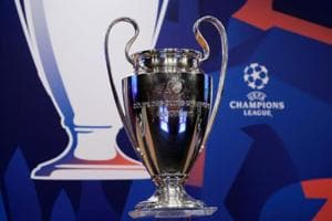 File photo of the Champions League trophy.