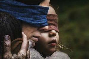"A ""Bird Box"" thriller released on Netflix a month ago inspired a challenge for people to do things blindfolded, mimicking characters in the original streaming film."