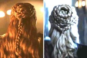 Sansa has a habit of copying the hairstyles of powerful women around her.
