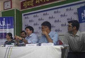 Praja members present the report during a press conference on Wednesday.