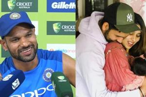 Shikhar Dhawan has advice for young dad Rohit Sharma