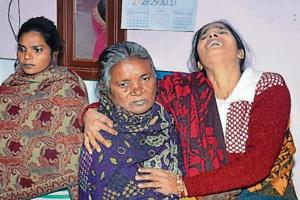 Family members mourn the death of the minor girl.