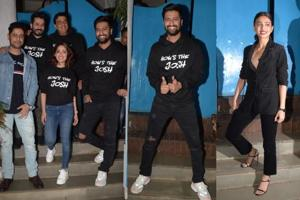 Uri is the first big hit of the year and Vicky Kaushal, Yami Gautam and the rest of the film's team held a grand success bash.