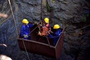 "A joint rescue operation involving nearly 200 personnel from the NDRF, Indian Navy as well state agencies, has been on at a ""rat-hole"" mine at Khloo Ryngksan in Meghalaya's East Jaintia Hills district for the past one month."