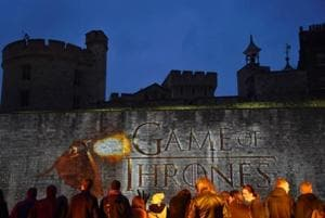 "Fans wait for guests to arrive at the world premiere of the television fantasy drama ""Game of Thrones"" series 5, at The Tower of London, in London, Britain March 18, 2015."