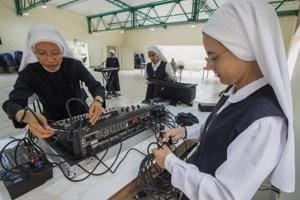 Photos: Lima's rock and roll nuns tune up for papal performance