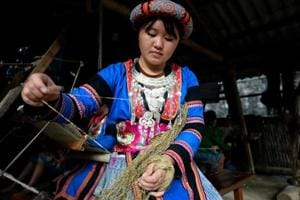 Photos: Weaving rehab for Vietnam trafficking victims one stitch at a time