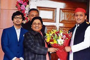Akash accompanied Mayawati and met senior leaders and other party leaders, including Akhilesh Yadav, on her birthday