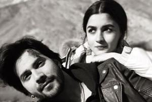 Alia Bhatt and Varun Dhawan on the sets of Kalank.