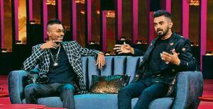 Hardik Pandya and KL Rahul on the Karan Johan TV chat show.