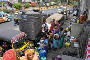 Residents have been dealing with the problem of erratic water supply since the past two years.