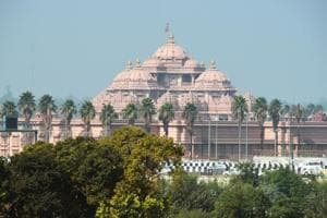 The corridor between Akshardham (in photo) and Saharanpur will decongest large parts of east and northeast Delhi.