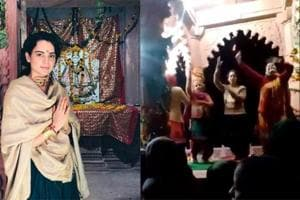 Kangana Ranaut performing at a temple in Mandi ahead.