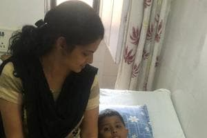 Kanak Joshi, one of the two children who sustained injuries on Saturday.