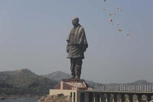 A view of the statue of the 'Iron Man of India' Sardar Vallabhbhai Patel, the world's tallest statue, in Narmada district of Gujarat, India. (File Photo)
