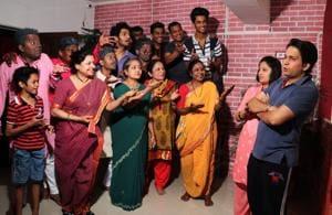 An Abhinay Katta performance underway in Thane.