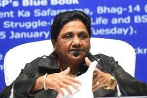 Bahujan Samaj Party chief Mayawati addressing a press conference on her 63rd birthday in Lucknow on Tuesday.