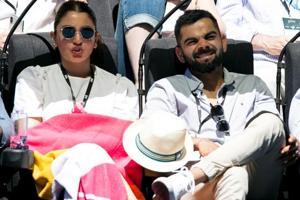Virat Kohli and Anushka Sharma attending day six of the Australian Open.