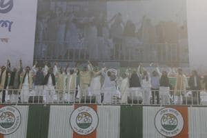 Leaders of 18 opposition parties, cutting across regional and ideological barriers, resolved to put up united fight against the Bharatiya Janata Party on January 19.