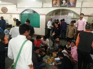 The ABVP called the Chaturshringi Police station and reported the matter upon which the SPPU administration was called