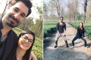 Sunny Leone and Daniel Weber celebrated her 18 million followers on Instagram with a video.