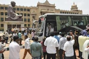 A day after the Congress sought to downplay the alleged fight between two of its MLAs at the Eagleton Golf Resort on the outskirts of Bengaluru, JN Ganesh, the Congress MLA from Kampali constituency, said that nothing had happened at the resort.