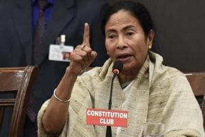 West Bengal chief minister Mamata Banerjee on Monday said her government has given the go ahead for Bharatiya Janata Party (BJP) chief Amit Shah's helicopter to land and take off from Malda. (Photo by Sanjeev Verma/ Hindustan Times)