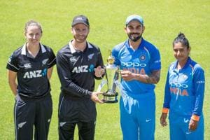 India vs New Zealand trophy.