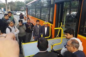 The  Delhi government, on Monday, January 21, 2019,  finalised two prototypes of disabled-friendly standard-floor buses to be introduced in the cluster model.