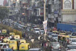 As part of the redevelopment project, traffic movement will be restricted on the main Chandni Chowk-Fatehpuri Masjid road to convert the crowded streets of the old Delhi market into an accessible space for pedestrians.